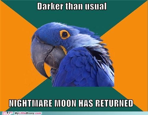 cloudy dark nightmare moon Paranoid Parrot sky - 5075452416