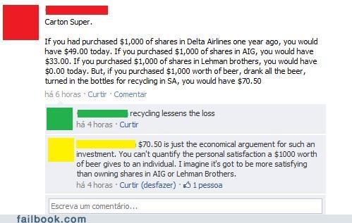 Lehman Brothers beer stocks Economics AIG Delta Airlines failbook g rated
