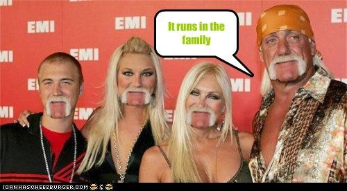 celeb,funny,gross,Hulk Hogan,mustache,shoop