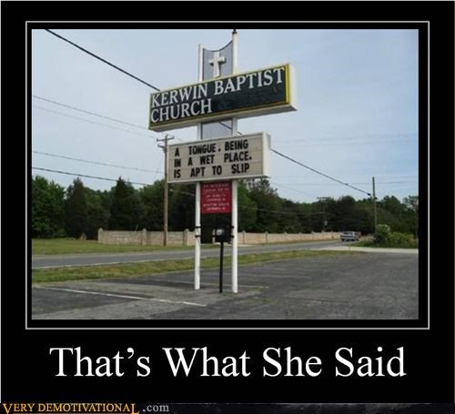 church hilarious she said sign tongue wtf - 5075801600