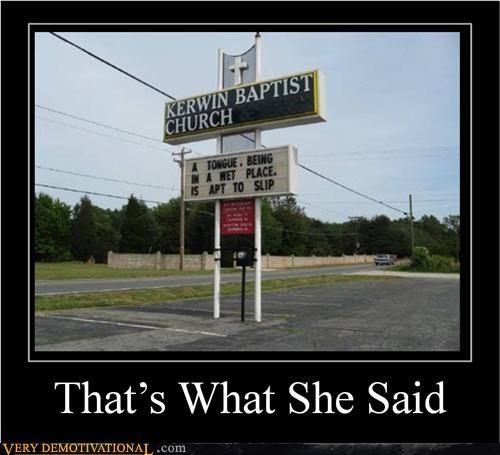 church hilarious she said sign tongue wtf - 5075801600