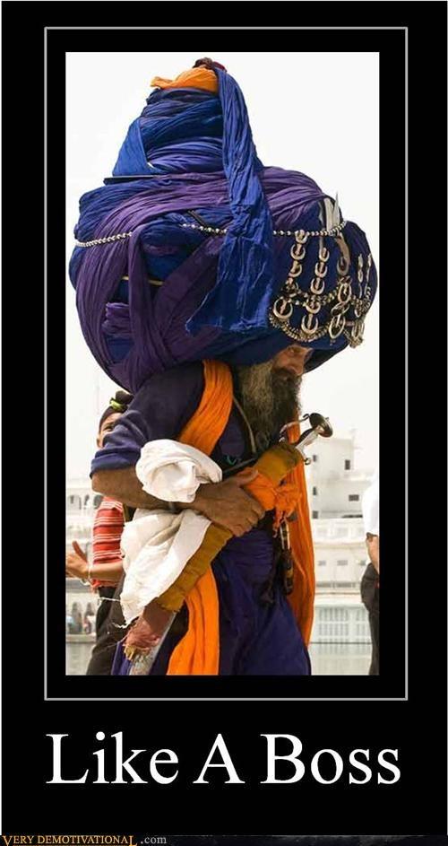 hat hilarious huge Like a Boss sikh turban wtf - 5075878656