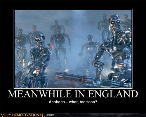 england hilarious riots terminator - 5075909632
