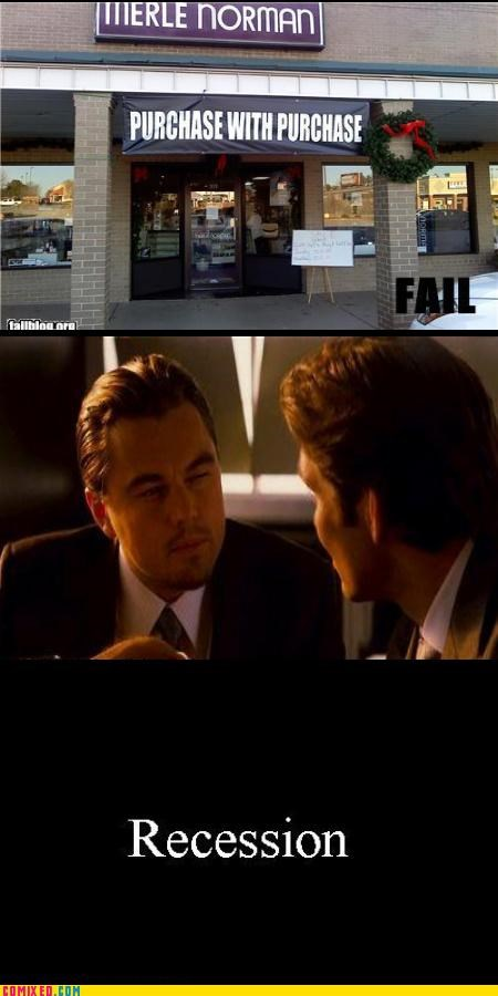 economy Inception leonardo dicaprio meme purchase recession the internets - 5075910656