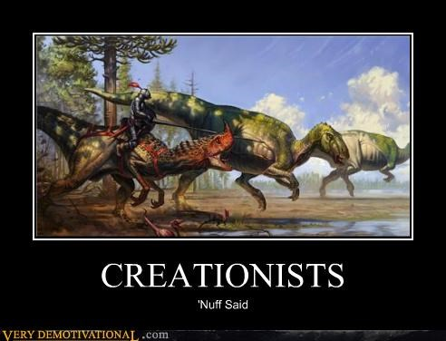 creationism dinosaurs hilarious knights - 5076146944
