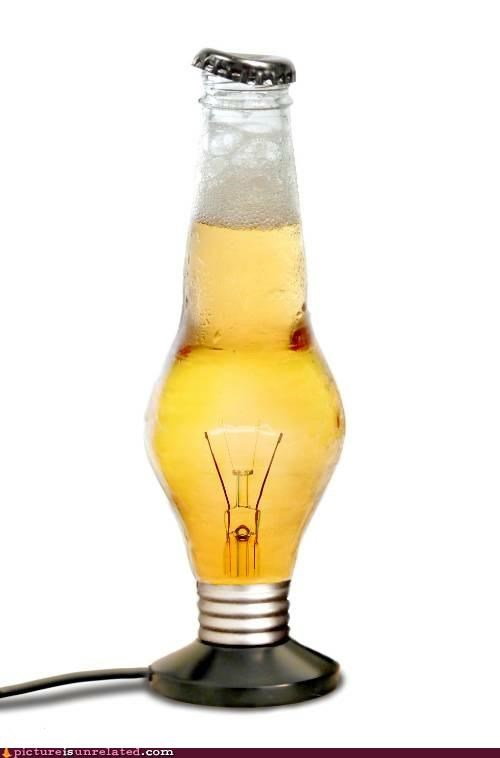 bad idea,beer,lightbulb,wtf
