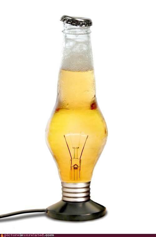 bad idea beer lightbulb wtf - 5076208128