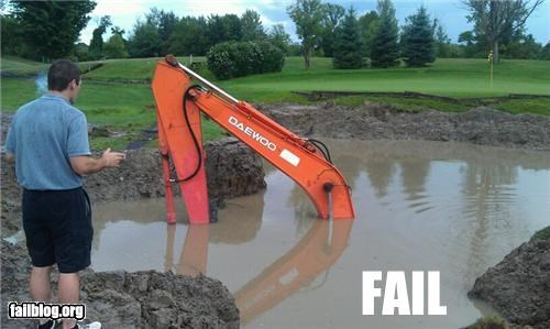fail crane,failboat,flood,g rated,Professional At Work,sunk