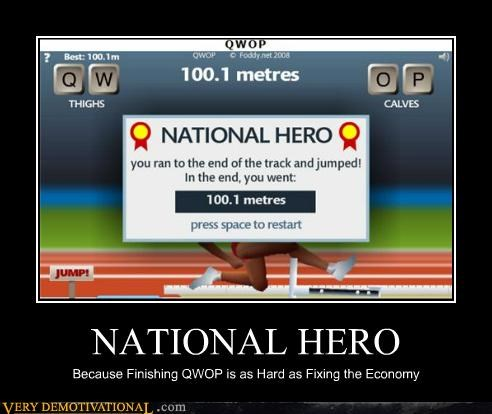 difficult hilarious national hero QWOP