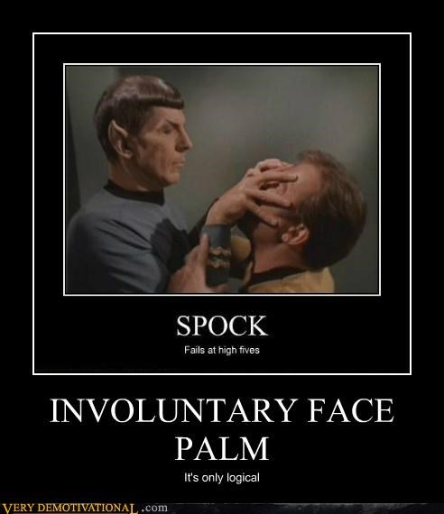 face palm,hilarious,involuntary,james t kirk,mind meld,Spock,Star Trek