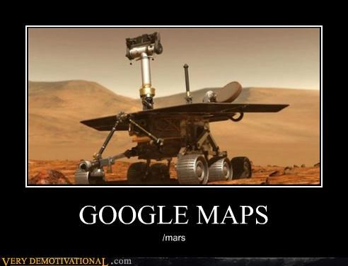 google maps hilarious Mars