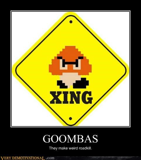 goomba hilarious sign video games wtf x-ing - 5077257472