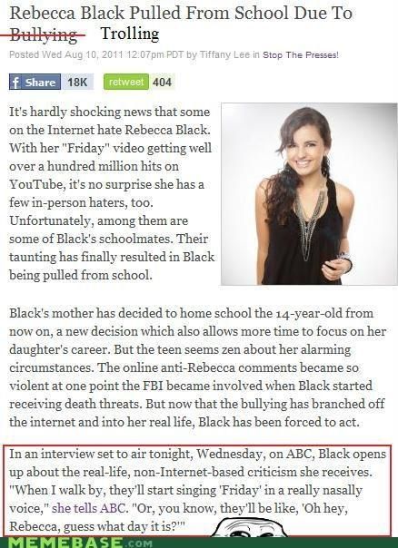 bully drop out Rebecca Black - 5077407744
