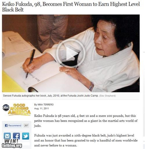 black belt completely relevant news elderly Japan judo martial arts old people rock - 5077489664