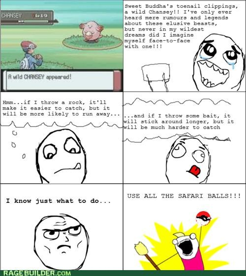 all the things,chansey,gameplay,rage comic,safari zone