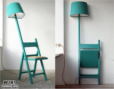 chair convenient design furniture handy lamp - 5077570048