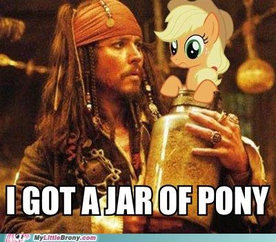 applejack jar Johnny Depp Pirates of the Caribbean - 5077679872