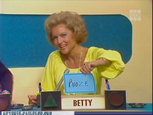 betty white,booze,correct answer,game show