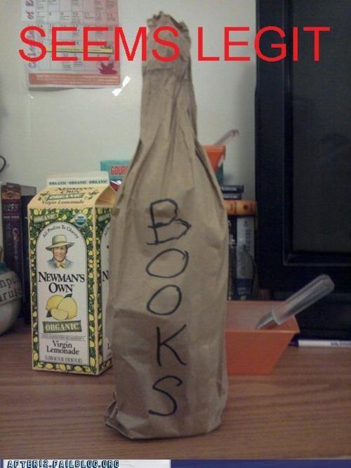 books booze hidden i lied paper bag secret - 5077714432