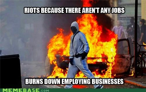 businesses cars jobs London Memes riots - 5077774336