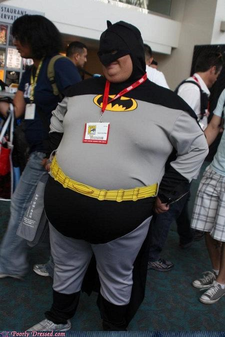 batman,comic con,cosplay,costume,fat
