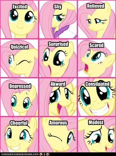 The many moods of Fluttershy