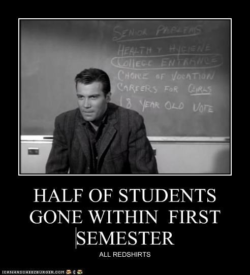 HALF OF STUDENTS GONE WITHIN FIRST SEMESTER ALL REDSHIRTS