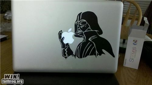 darth vader,decal,logo,mac,modification,nerdgasm,star wars