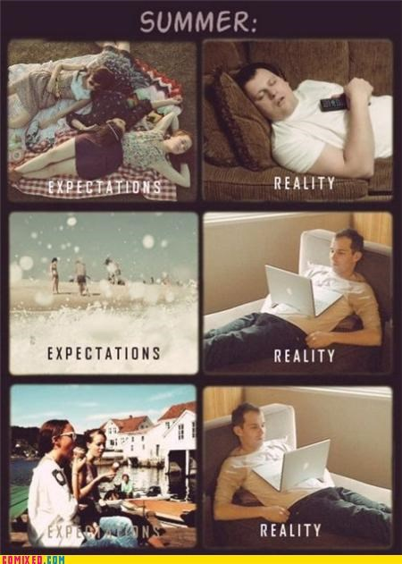 boring expectations reality school summer the internets - 5079244288