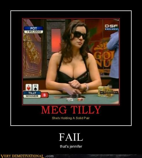 FAIL hilarious jennifer tilly lady bags poker - 5079353088