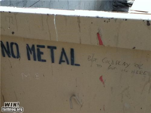 classic coldplay dumpster hacked irl metal Music recycling