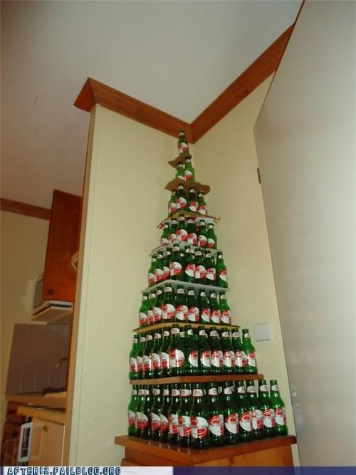 beer bottle christmas pile presents stack - 5079797760