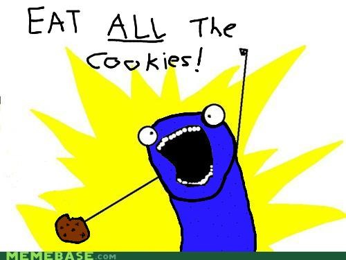 all the things,Cookie Monster,cookies,delicious,muppets,Sesame Street