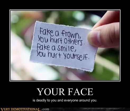 face frown hilarious hurt others self smile