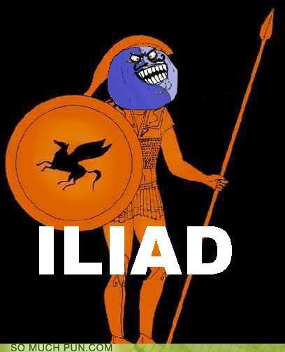 achilles homer i lied iliad meme rage comic rage face - 5080479488