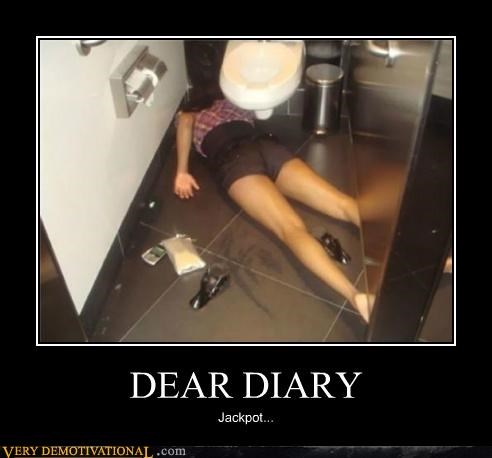 diary,hilarious,jackpot,passed out,Sexy Ladies