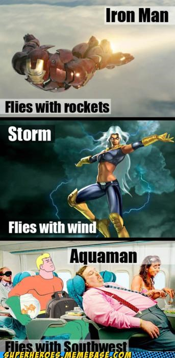 aquaman flying iron man storm Super-Lols - 5080528640