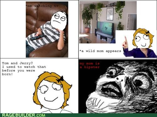 cartoons,hipster,mom,Rage Comics,Tom and Jerry