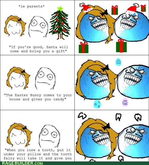 gifts,i lied,parents,Rage Comics,santa