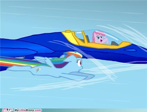 fly jet pinkie pie rainbow dash - 5080742144