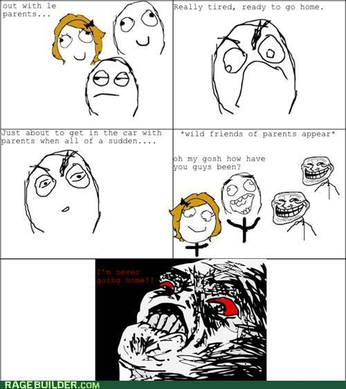 friends going home old people parents Rage Comics wtf - 5080786688