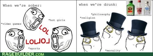 drunk fancy sir philosopher Rage Comics sober video games - 5080811264