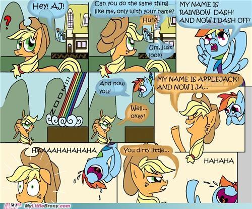 applejack comics dirty joke rainbow dash sexy times - 5080947456