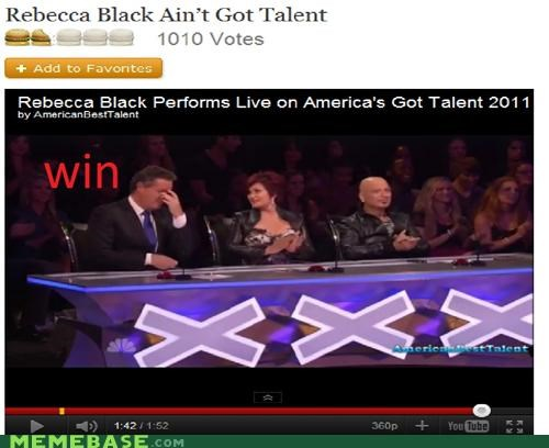 americas got talent,FRIDAY,person,rebecca,Rebecca Black,sanity