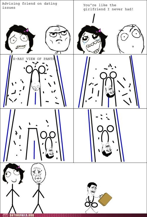 comic emasculating friend zone rage comic We Are Dating - 5081051904