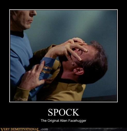 face hugger,hilarious,Spock,Star Trek