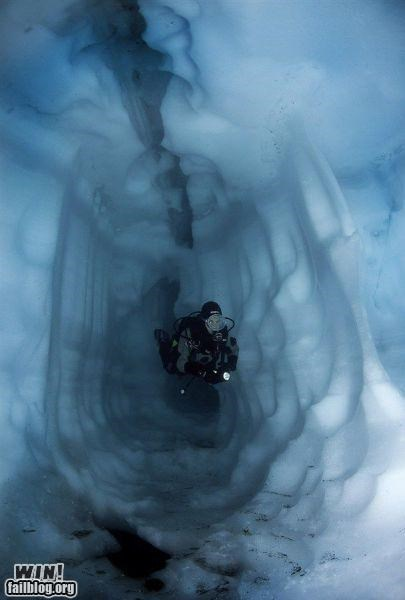 arctic ice Ice Cave photography polar scuba swim