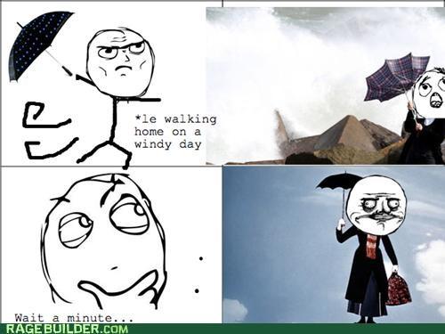mary poppins,me gusta,Rage Comics,umbrella,wind