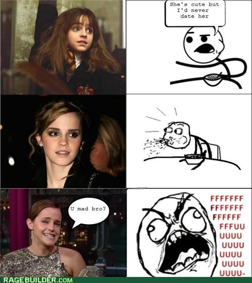 emma watson,fu guy,Harry Potter,hermione,Rage Comics,troll face
