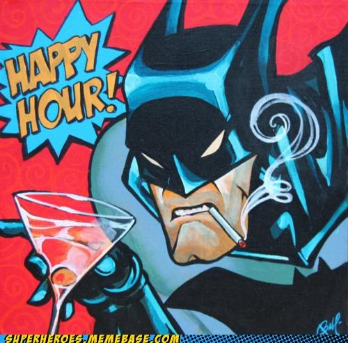 Awesome Art batman booze happy hour - 5081397504